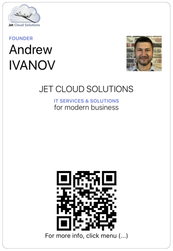 Google Pay Service - Завантажити візитку Jet Cloud Solution